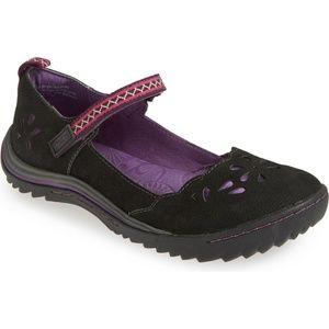 JAMBU Brooks Mary Jane Flat Size 6 Black Purple